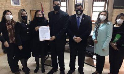 Junta Municipal entrega a magistrados la resolución de denominación de calle cerca del nuevo Poder Judicial – Diario TNPRESS