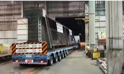 Viga gigante de 60 toneladas para el puente Franco – Foz, ya está en la zona de obras – Diario TNPRESS