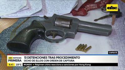 13 detenidos tras operativo policial en Capiatá