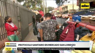 ¿Se cumplen las medidas sanitarias en el mercado de San Lorenzo?