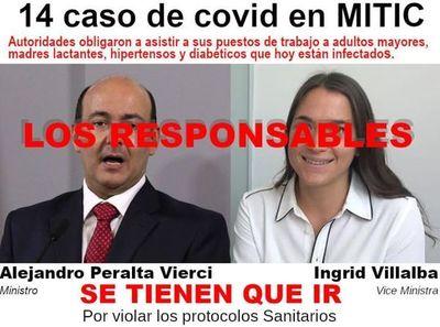 Sindicato de periodistas exige destitución de autoridades del MITIC ante confirmación de 14 casos de COVID en medios estatales