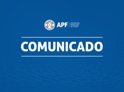 APF posterga reinicio del Torneo Apertura