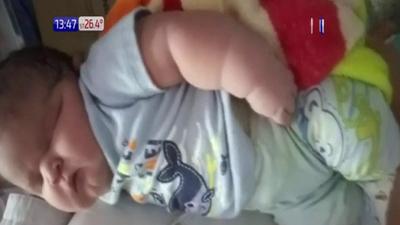 Nace mega bebé con más de 6 kilos en Itapúa