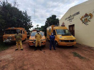 Bomberos de Villarrica, en cuarentena tras asistir a paciente con Covid-19
