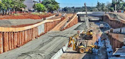 Construcción del multiviaducto de Ciudad del Este con   avance del  50%