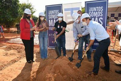 Construyen pabellón de contingencia en el Hospital de Belén