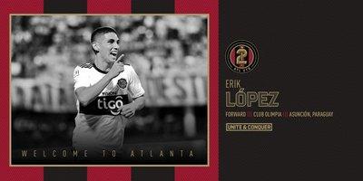 La filial del Atlanta United anuncia a Erik López, pero jugará en el primer equipo
