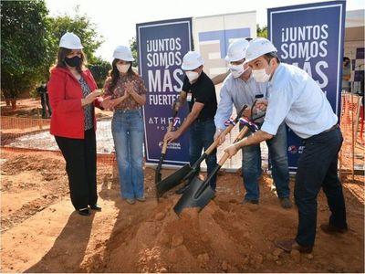 Athena Foods inicia la construcción del pabellón de contingencia en el en el Hospital de Belén