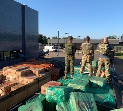 Cae 1,5 mil cajas de CIGARRILLOS producidos por TABESA en el Brasil