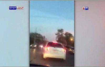 Video capta arrollamiento y huida de conductor