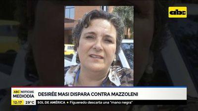 Desirée Masi dispara contra Julio Mazzoleni