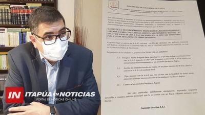 RATIFICAN PEDIDO DE UN FISCAL ADJUNTO EXCLUSIVO PARA ITAPÚA