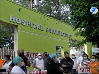 Protestan en Hospital Psiquiátrico por falta de equipos de bioseguridad