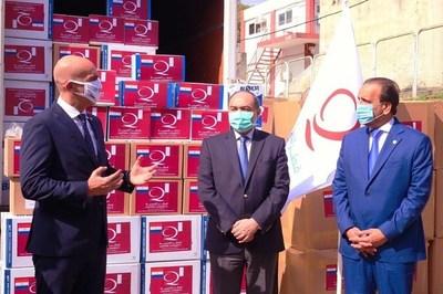 Qatar Charity dona a Salud Pública hisopos y equipos de protección biosanitaria