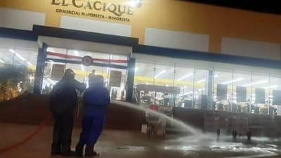Covid-19: Desinfección en Cacique de Areguá • Luque Noticias