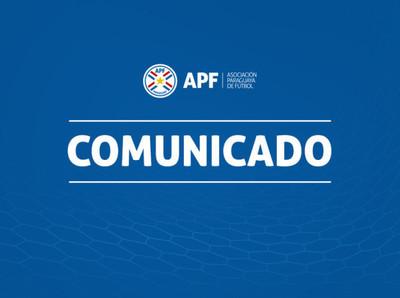 APF comunica un resultado positivo en Olimpia