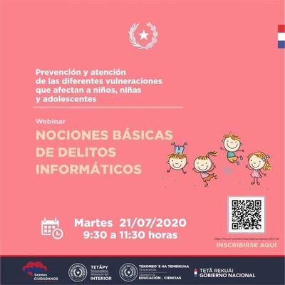 MEC arranca seminario virtual sobre nociones básicas de delitos informáticos
