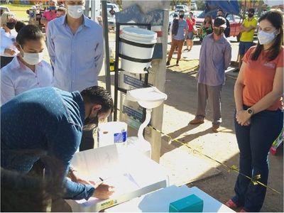 Habilitan carpas para delivery fronterizo en Pedro Juan Caballero