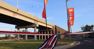 Abdo inauguró el primer viaducto en San Pedro