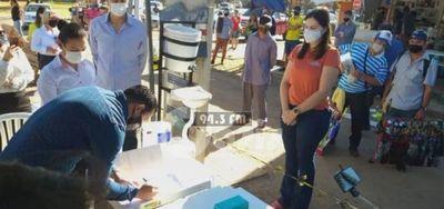 Habilitan carpas para delivery fronterizo en Pedro Juan