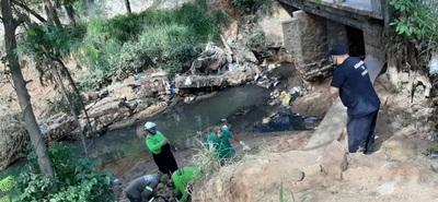 Un hombre alcoholizado cayó de un puente al arroyo San Lorenzo