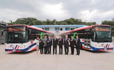 HOY / Buses eléctricos donados por Taiwán llegarán al país cuando las medidas sanitarias lo permitan