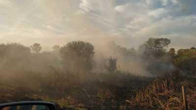 Ruta Transchaco: Autoridades no intervienen en quemazones de pastizales