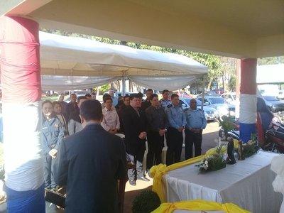 Agentes policiales honran a su santa patrona