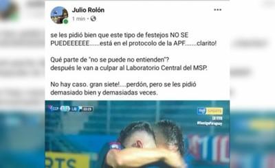 """Viceministro de Salud criticó por """"abrazo de gol"""" y fue escrachado"""