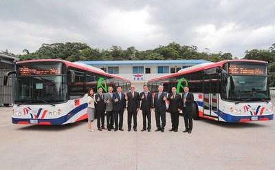 Buses eléctricos donados por Taiwán, listos para emprender viaje cuando Paraguay abra vuelos
