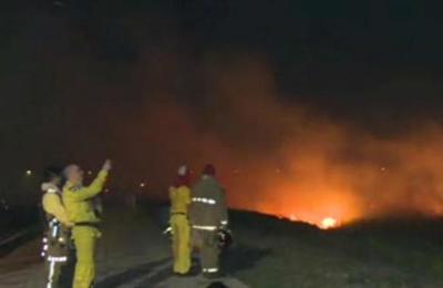 Incendio en la Costanera Norte habría sido provocado