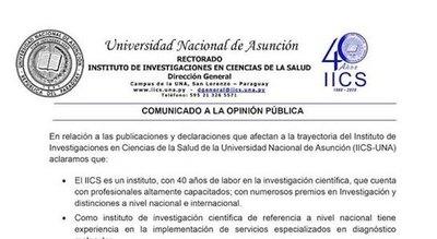 """El IICS ratifica que hubo los 35 """"positivos"""" hína"""