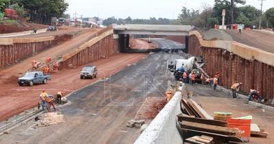 Las obras para el multiviaducto del km 7 avanzó en un 50%