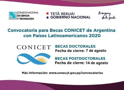 Habilitan convocatoria para becas doctorales y postdoctorales en Argentina