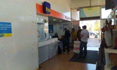 Roban boca de cobranzas de Itaú en súper Stock de Minga Guazú