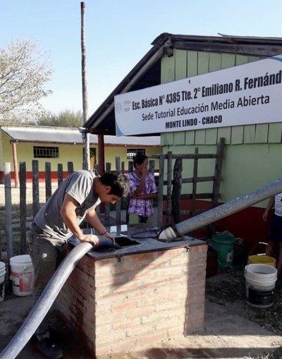 SEN continúa provisión de agua potable en el Chaco