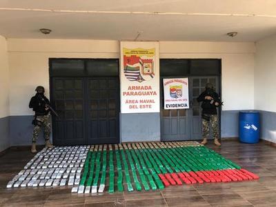 Narcotráfico imparable: incautan 300 kilos de marihuana a orillas del Paraná