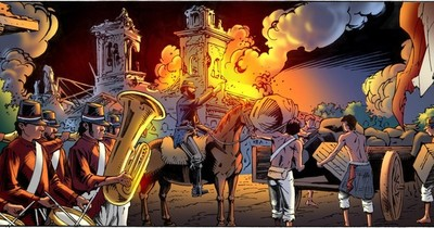 Incendiario cumpleaños de Mcal. López en Humaitá