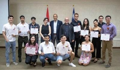 Becarios paraguayos en Taiwán recibieron sus títulos en acto de graduación realizado en Taipei