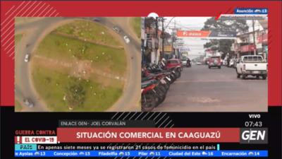 """Varios comercios cerrados en Caaguazú, algunos intentan """"sobrevivir"""""""