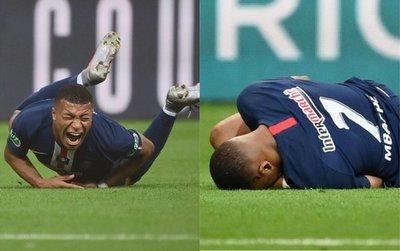 ¡Escalofriante! Mbappé salió llorando de la final de Copa tras terrible falta y preocupa al PSG