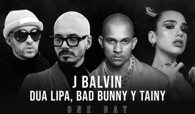 """HOY / Dua Lipa, Bad Bunny, J Balvin, Tainy y Úrsula Corberó se unen en """"Un día"""""""