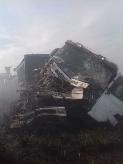 Humareda ocasionó un accidente de tránsito sobre la ruta Transchaco