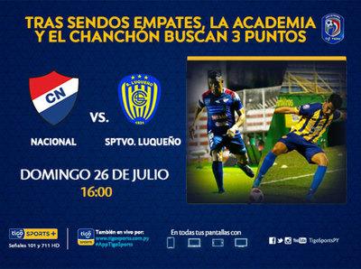 Nacional y Luqueño le dan continuidad al campeonato