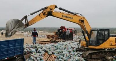Fiscalía destruye productos falsificados no aptos para el consumo humano
