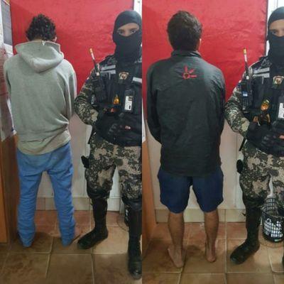 Detienen a dos hombres tras asalto a local comercial en Roque Alonso