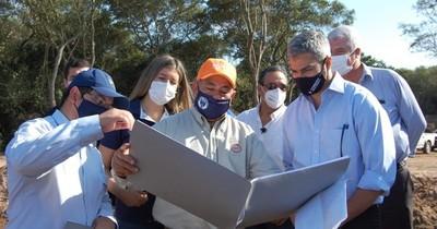 Mario Abdo realiza su jornada de gobierno en Caaguazú