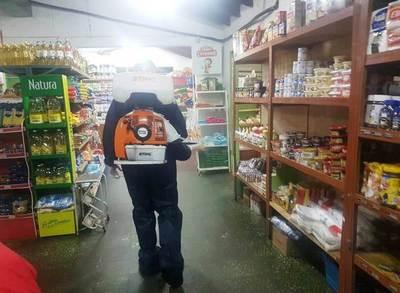 Bomberos combaten al coronavirus en Areguá • Luque Noticias