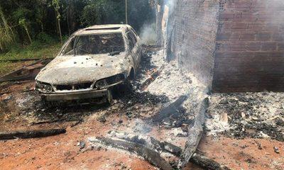 Fuego destruye una casa y vehículo en Tavapy – Diario TNPRESS