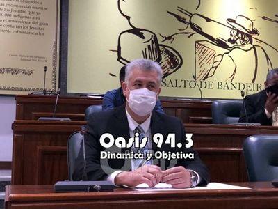 Intendente se defiende en la Cámara de Diputados para evitar intervención